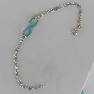 Tiffany & Co. Jewelry - Tiffany AG 925  Infinity Blue Enamel Bracelet